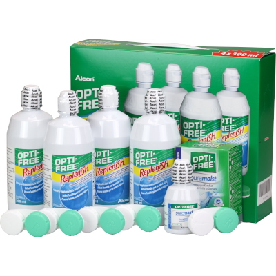 Opti-Free RepleniSH Pack Poupança (4x300ml)